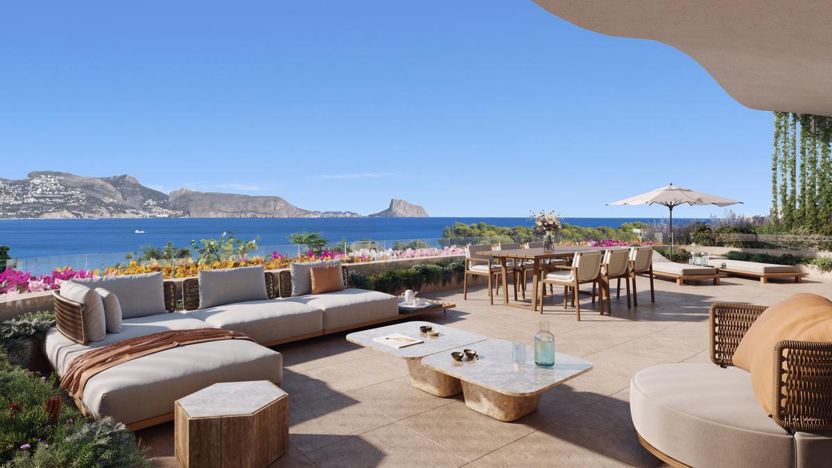 Si algo hace únicos estos apartamentos son sus grandes jardines en planta baja y sus amplias terrazas con vistas a la playa de El Albir.
