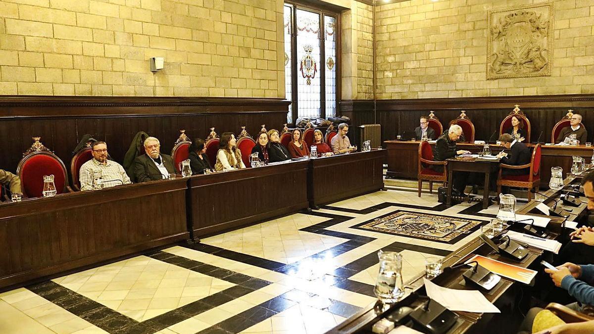 Imatge d'arxiu d'un ple municipal a l'Ajuntament de Girona. | ANIOL RESCLOSA