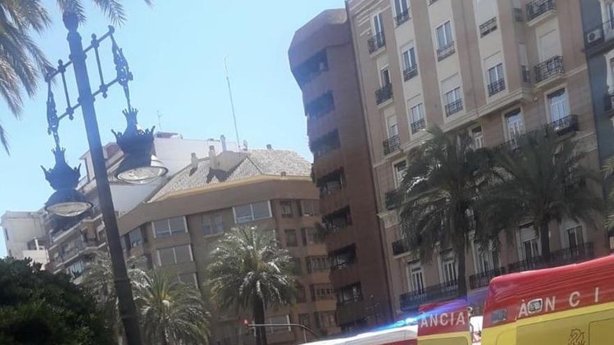 Un trabajador herido al caer 6 metros de un edificio en la Gran Vía
