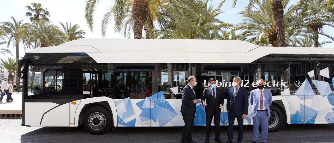El autobús que se está probando para su incorporación a la flota