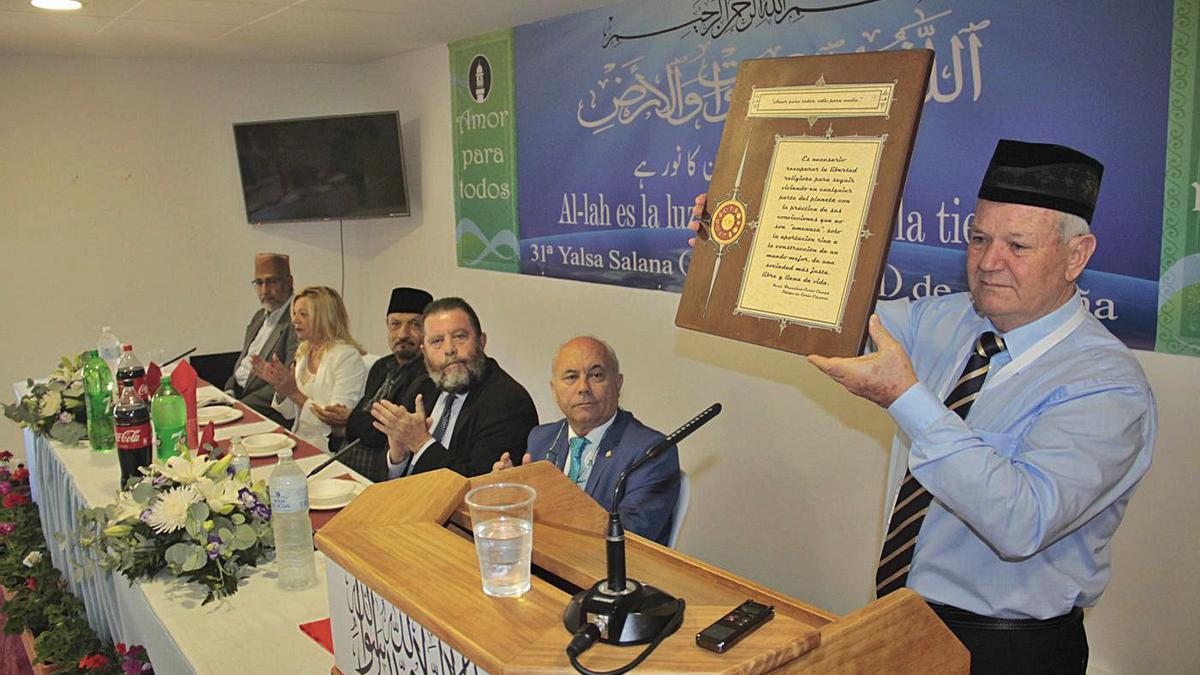 Uno de los encuentros celebrados en la Mezquita Basharat de Pedro Abad antes de la pandemia.