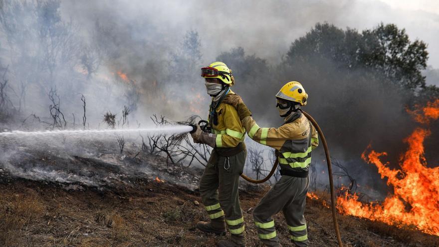 VIDEO | Controlado el incendio que amenazaba el embalse de Ricobayo