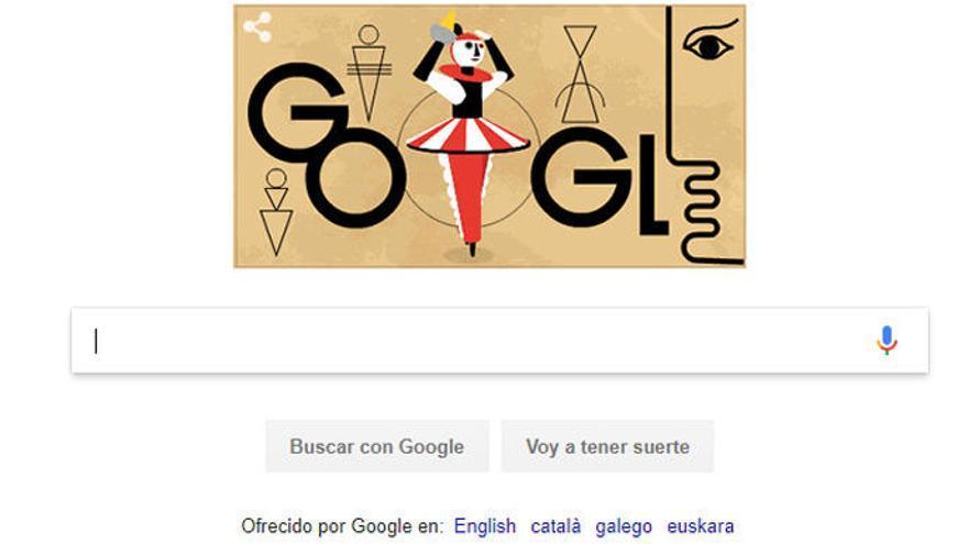 El 130 aniversario del nacimiento de Oskar Schlemmer, 'doodle' de Google