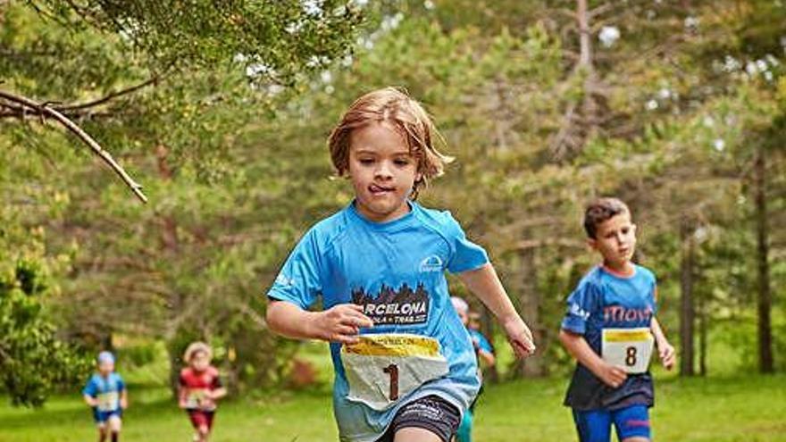 Les sis curses de la Berga Trail Kids apleguen 120 nens als plans de Corbera