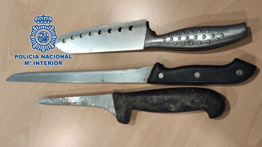 Atraca a punta de cuchillo a un peatón en Castelló y amenaza con matar a la policía
