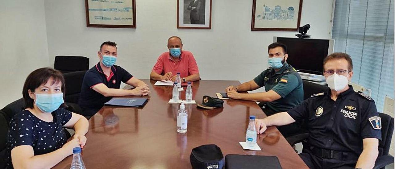 Reunión de los representantes de Catarroja con Rafael Rubio.