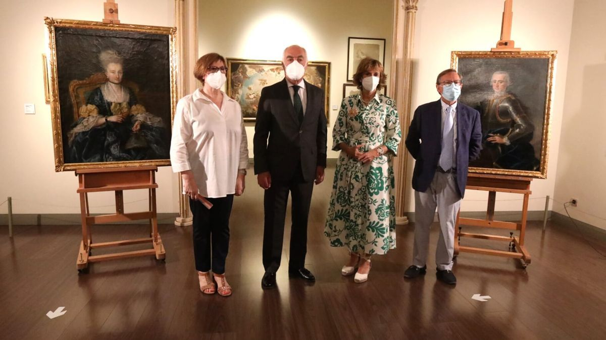Los dos retratos se han presentado este miércoles en el Museo Goya de Zaragoza.