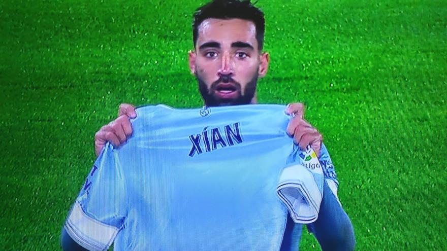 Brais Méndez, un gol a la memoria de Xián