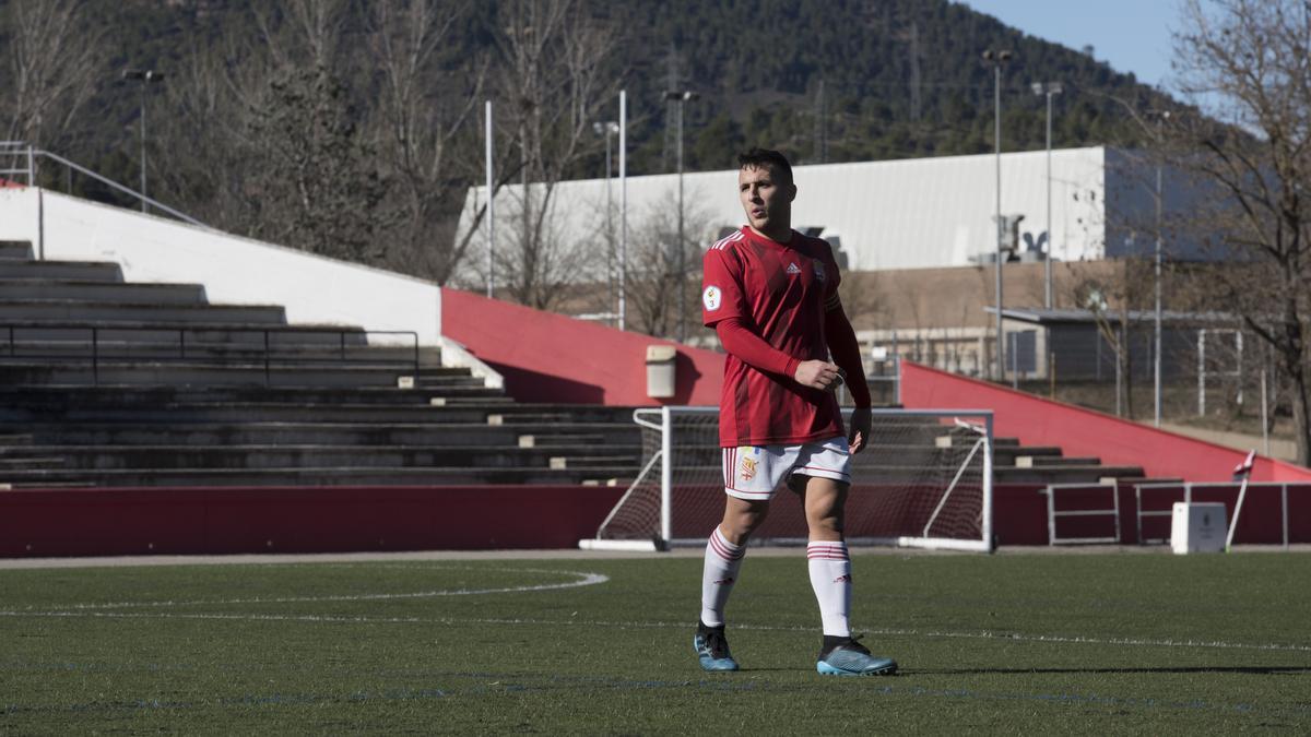 Sergi Solernou, durant un partit d'aquesta passada temporada al Congost