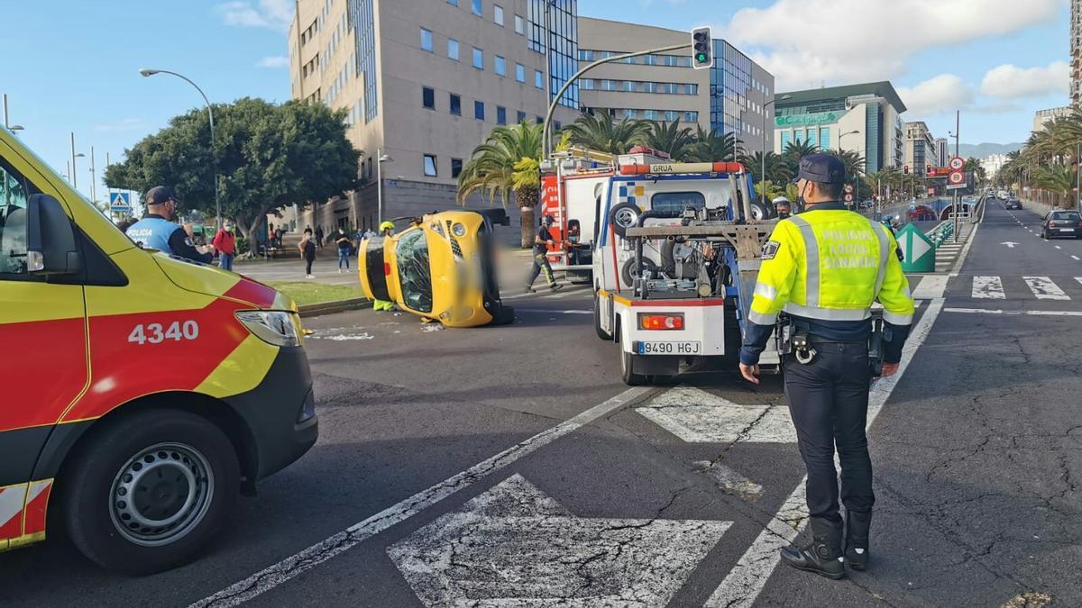 Accidente en la avenida Tres de Mayo