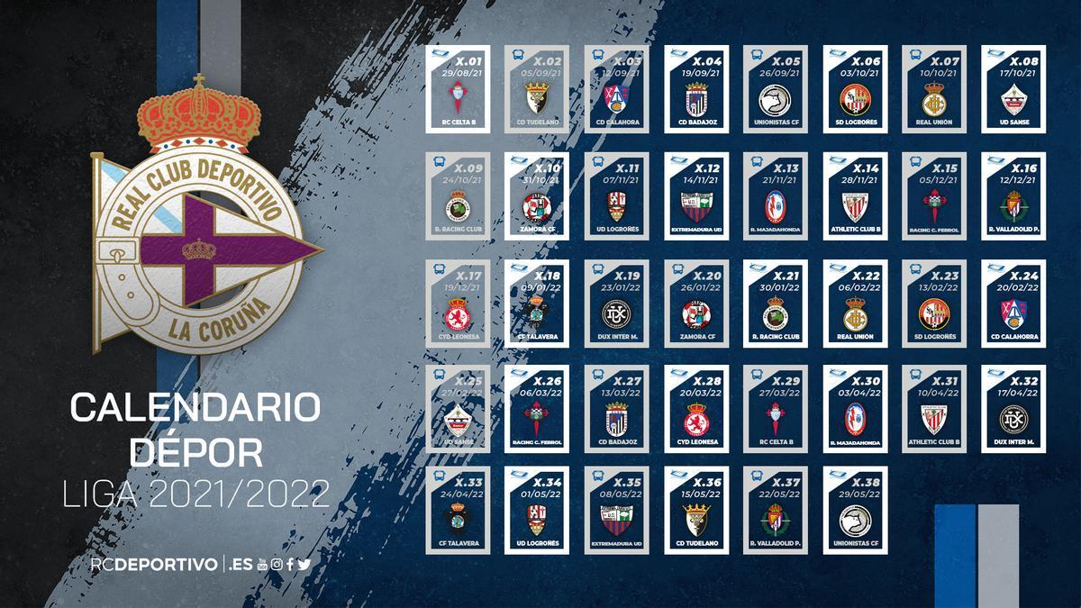 Calendario del Deportivo en el grupo 1 de la Primera RFEF 2021-22