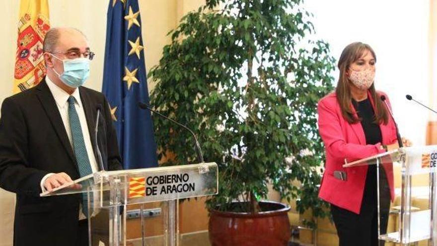 El presidente de Aragón anuncia el confinamiento de Zaragoza, Huesca y Teruel