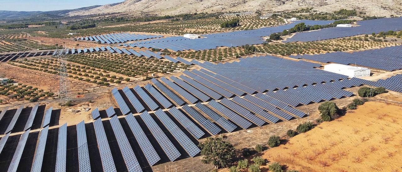 Todas las centrales solares fotovoltaicas proyectadas en el Alto Vinalopó contemplan evacuar la energía que generen en la subestación eléctrica de Beneixama.