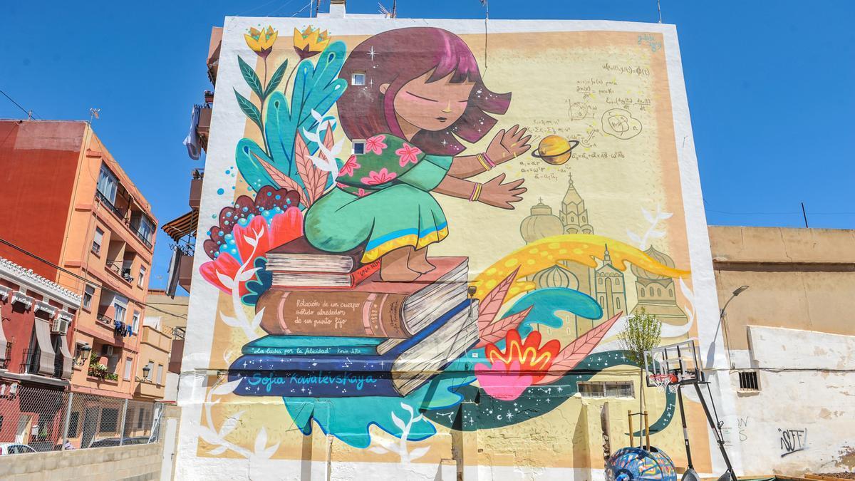 Mural colegio Santiago Apóstol