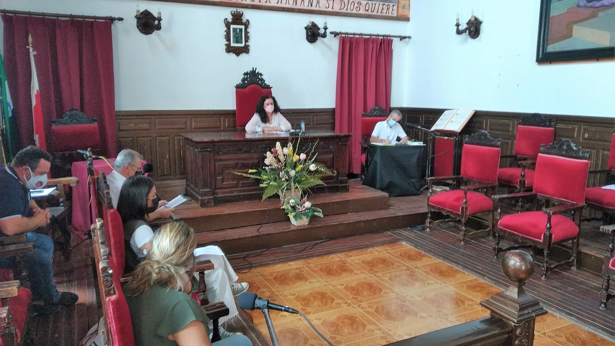Imagen del pleno celebrado en el Ayuntamiento de Alburquerque.