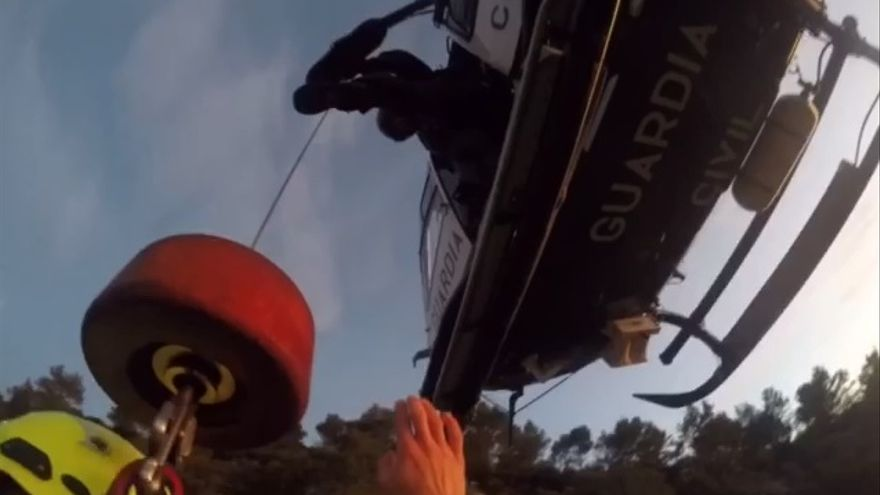 Así rescató la Guardia Civil a un hombre de 71 años en la Serra de Tramuntana
