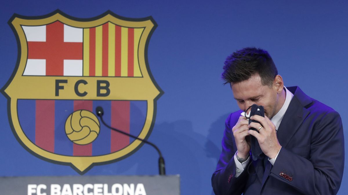 Messi, last Sunday in his farewell to Barcelona.
