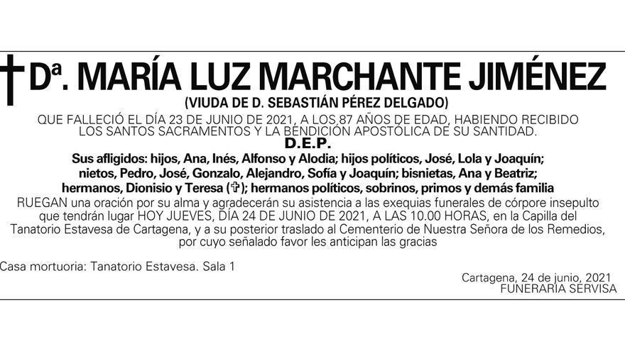 Dª María Luz Marchante Jiménez