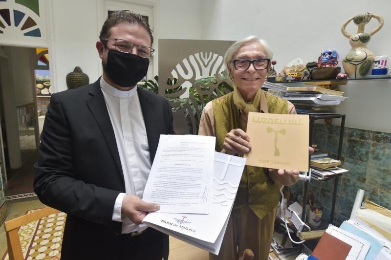 Pepé Dámaso dona cuadros al Obispado de Mallorca