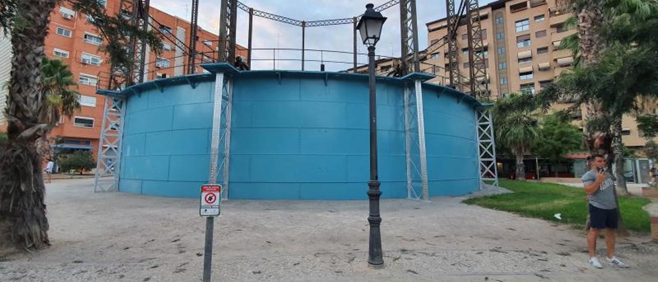 La rehabilitación se ha efectuado con materiales fáciles de repintar frente a los grafitis.   LEVANTE-EMV