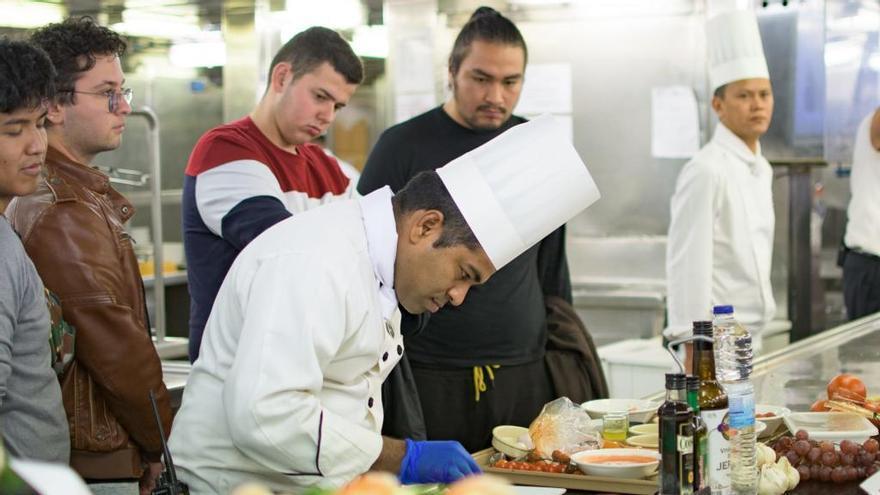 Cocineros a bordo por un día
