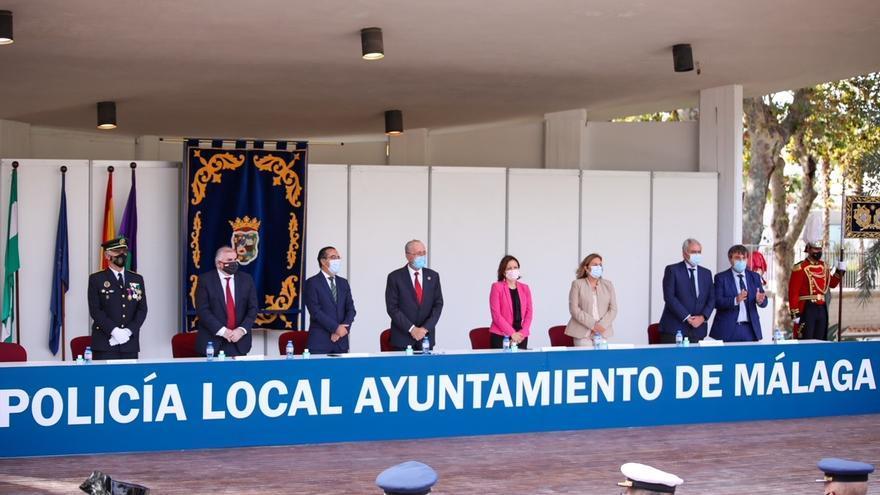 La Policía Local de Málaga celebra el día de su patrón con diferentes homenajes a los agentes