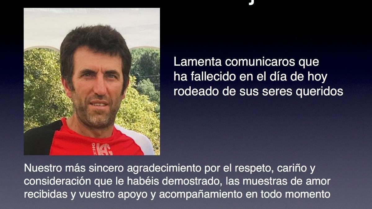 Nota de la familia de Alejandro Gómez.