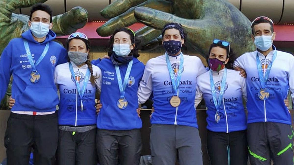 Els mundialistes Carles Sala, Marta Bassa, Alba Xandri, Marc Relaño, Eli Pracht i Sebastià Catllà   PC BONAVISTA COLLBAIX