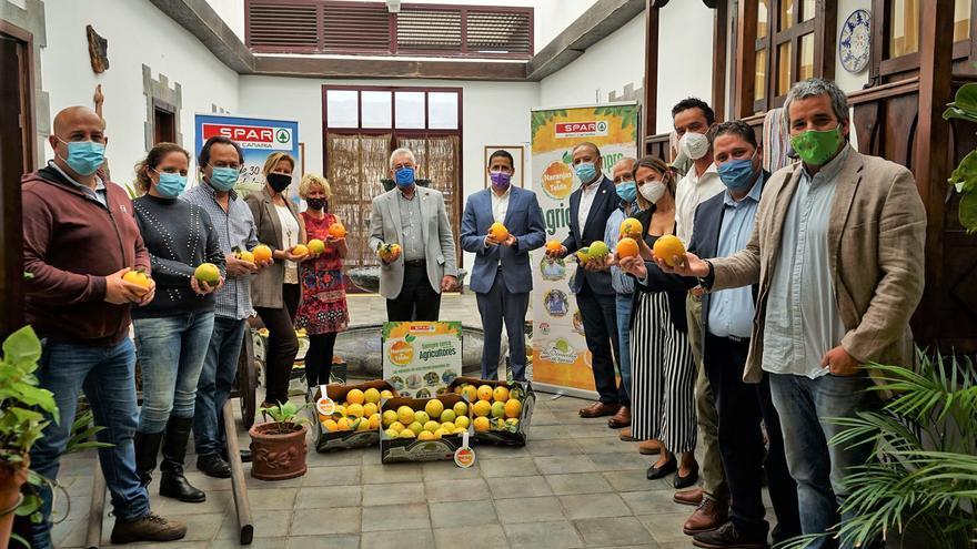 255 toneladas de naranjas de Telde, comercializadas por SPAR Gran Canaria