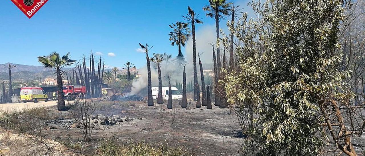 Imagen del incendio de La Vila Joiosa.