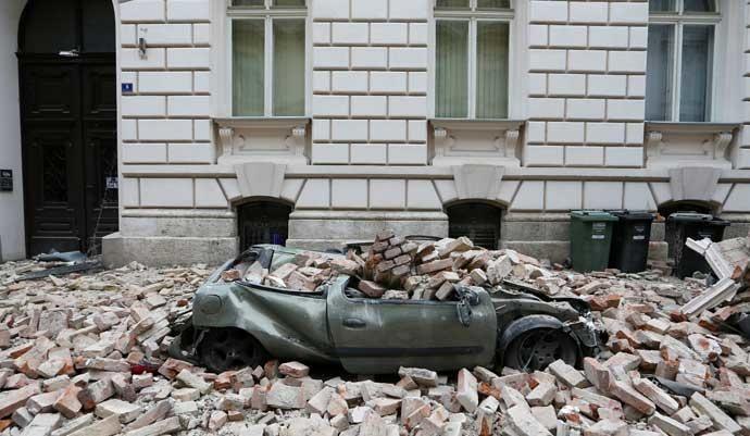 Cadena de terremotos en Croacia.