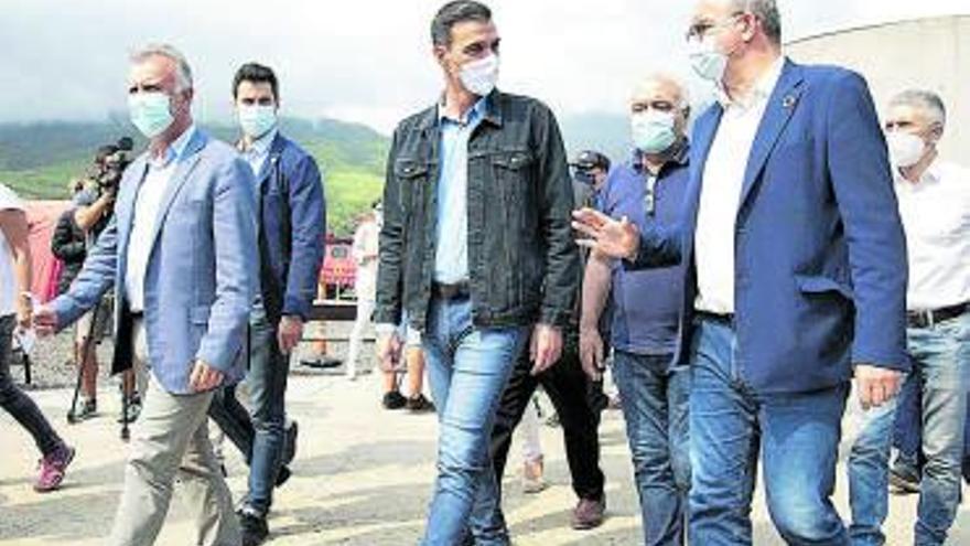 Sánchez regresará mañana a La Palma con los Reyes tras su viaje a Nueva York