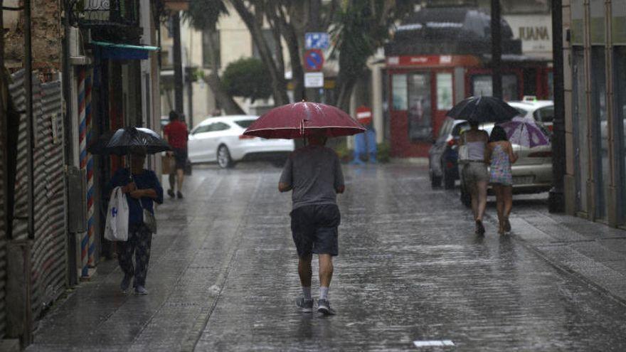 La lluvia deja más de 20 litros en una hora en el campo de Cartagena