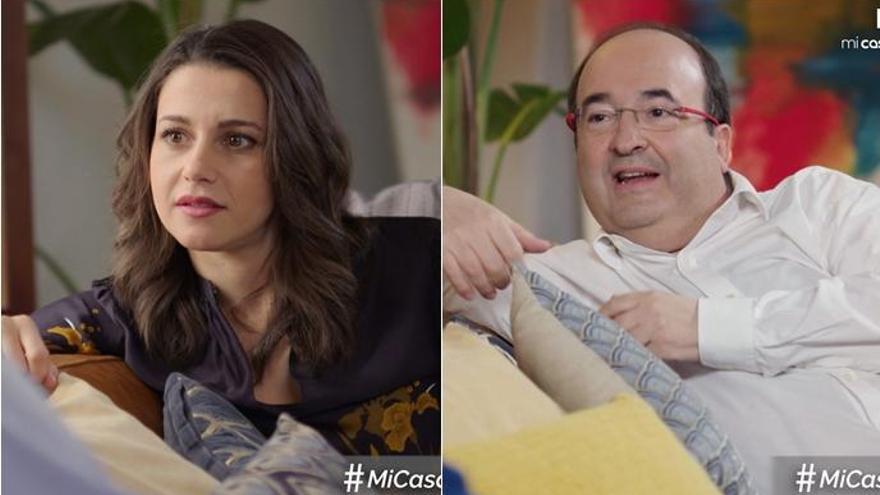 Inés Arrimadas y Miquel Iceta muestran su lado más íntimo en 'Mi casa es la tuya'