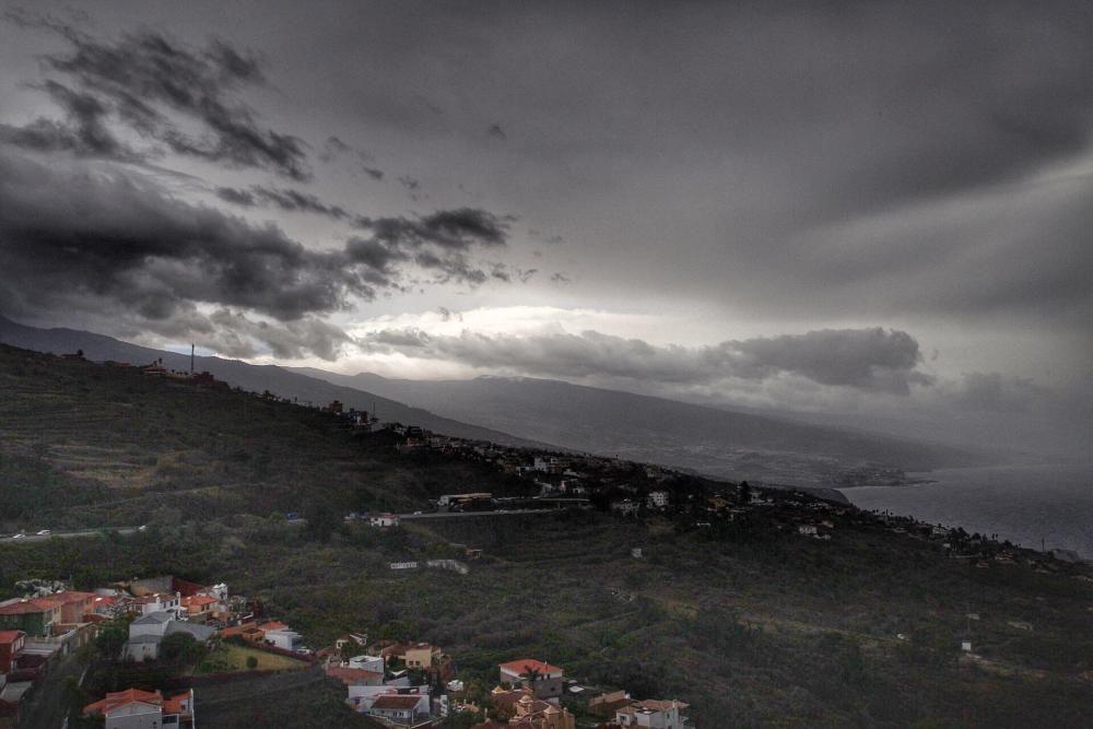 El norte de Tenerife vivió episodios de fuertes lluvias.