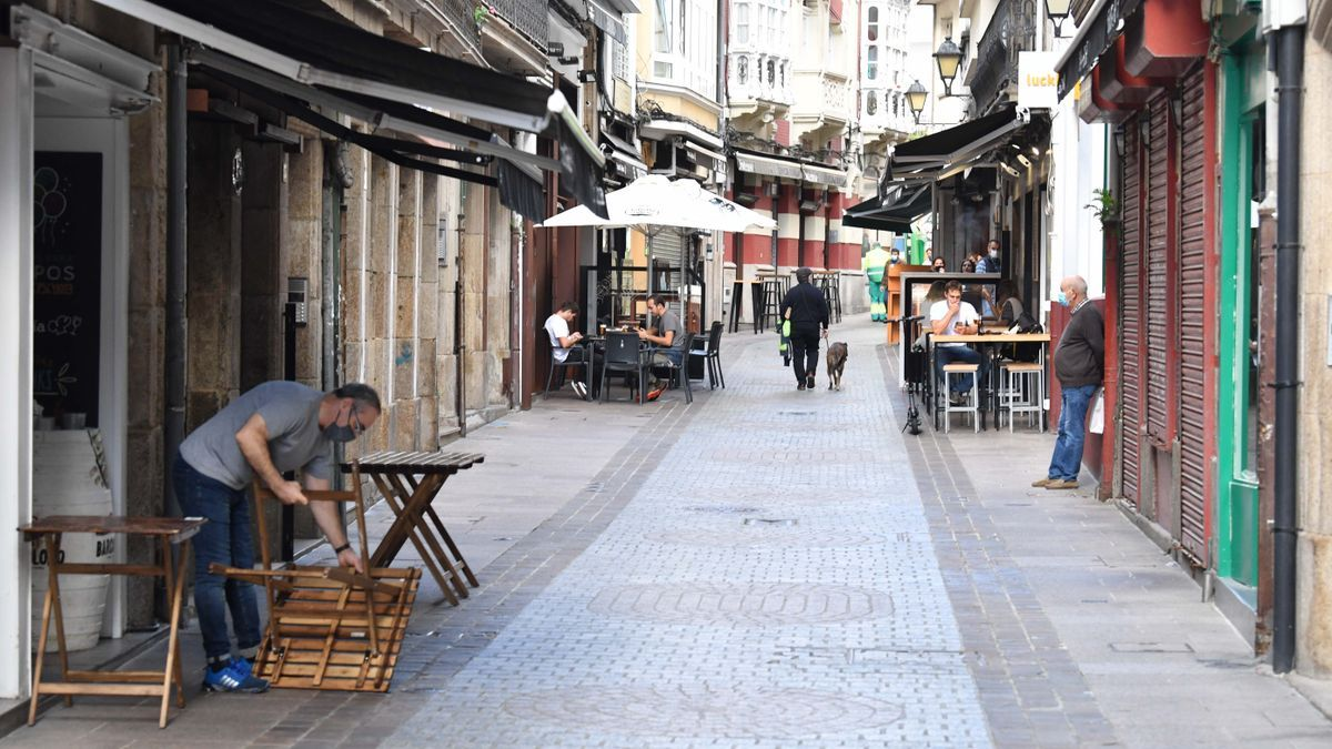 Locales de hostelería en A Coruña, en la calle de la Barrera.