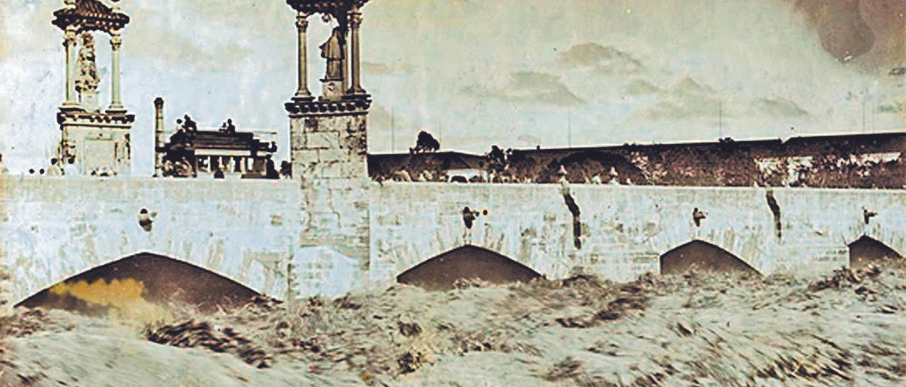 La avenida del  río Turia del 10  de noviembre  de 1897