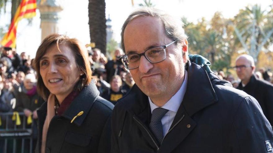 Torra visita y pide la libertad de los presos del 'procés'