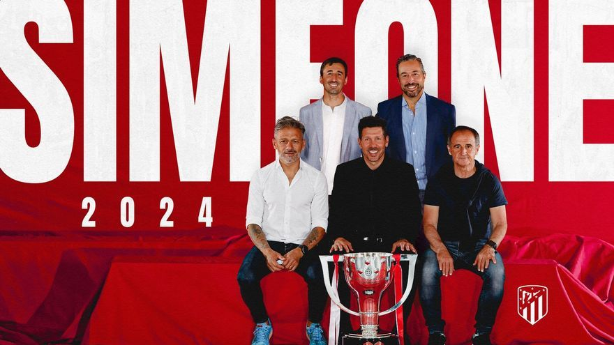 Simeone renueva con el Atlético hasta 2024