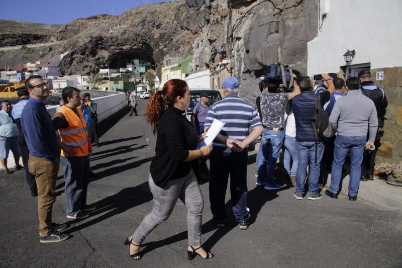Desalojo de las viviendas en Santa Lucía.