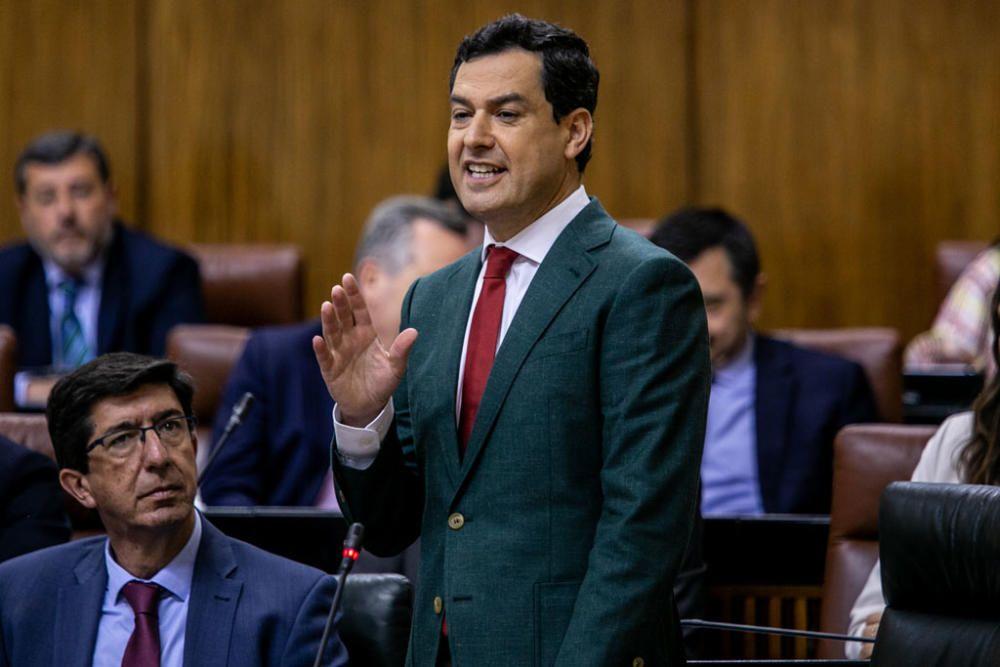 Sesión de control al Gobierno en el Parlamento andaluz