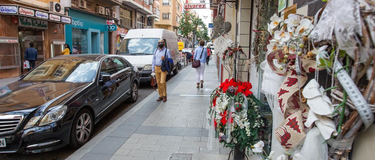 La calle comercial Poeta Quintana de Alicante