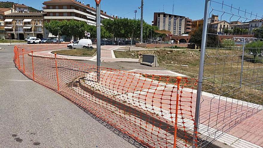 Puig-reig inicia les obres del nou parc amb zona verda del centre del poble
