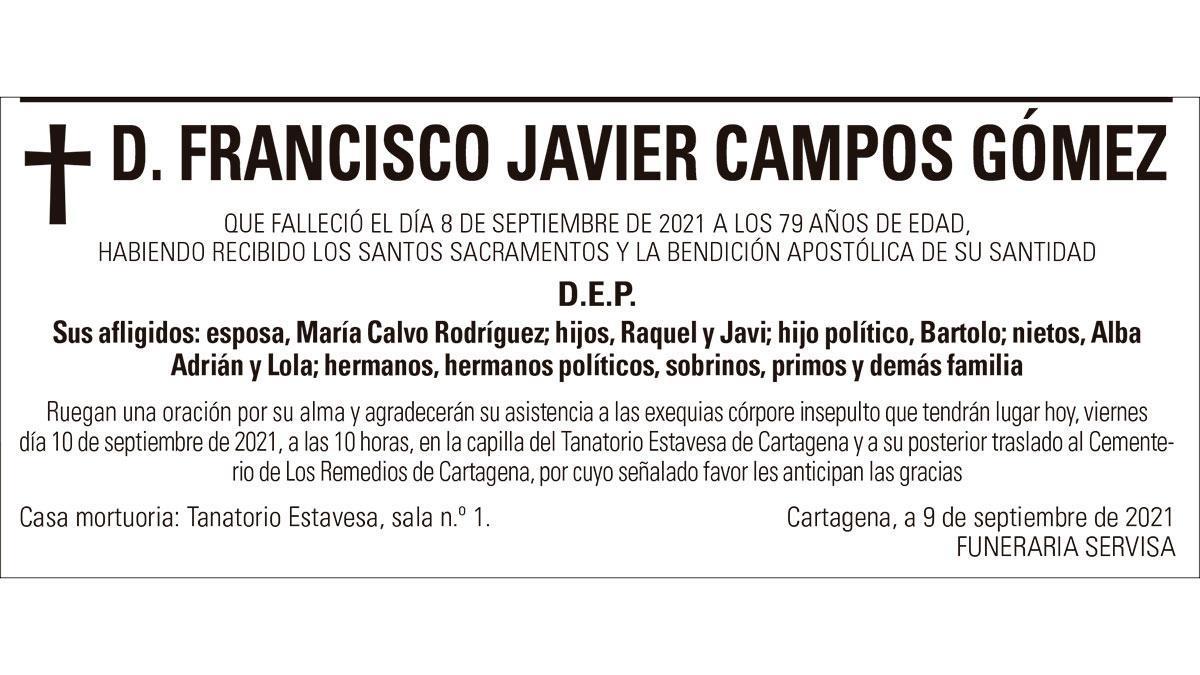 D. Francisco Javier Campos Gómez