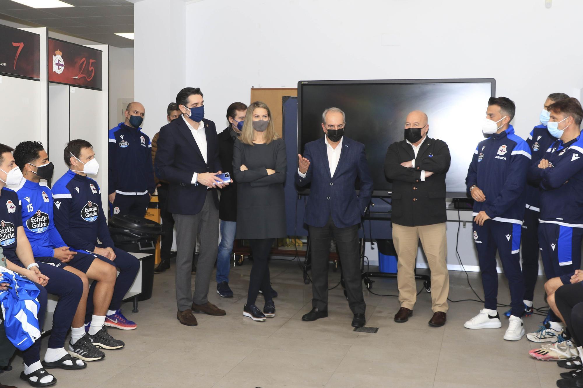 El nuevo consejo del Deportivo visita Abegondo