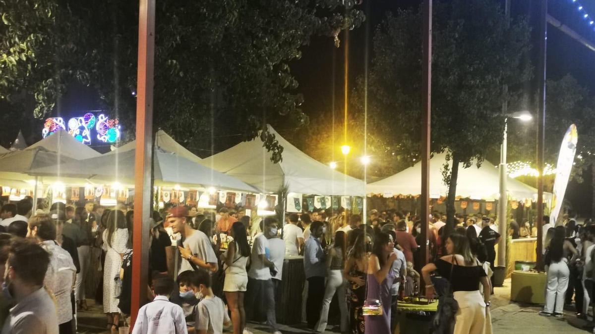 Imagen del recinto ferial con motivo de las fiestas del Valle de Lucena.