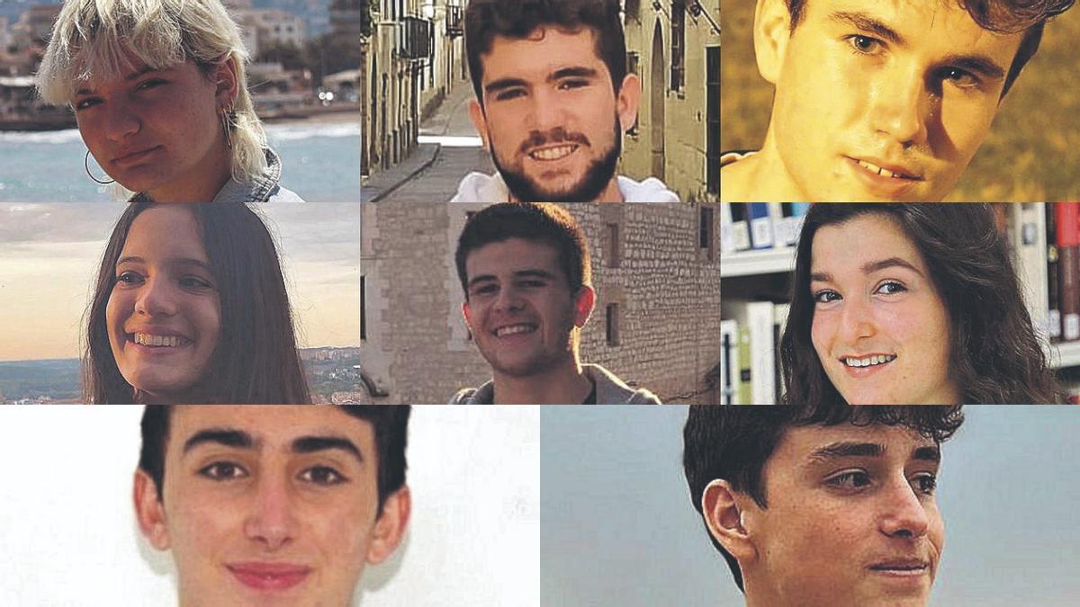 Los ocho estudiantes magníficos de la Comunitat Valenciana.