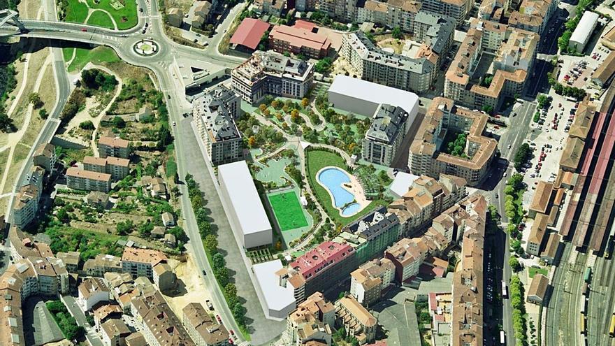 Una sentencia avala la reparcelación del terreno que albergará el parque de A Ponte