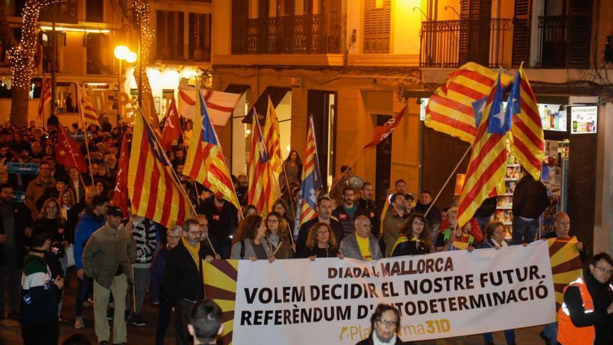 Mehr Zustrom bei Demonstration für Selbstbestimmung auf Mallorca
