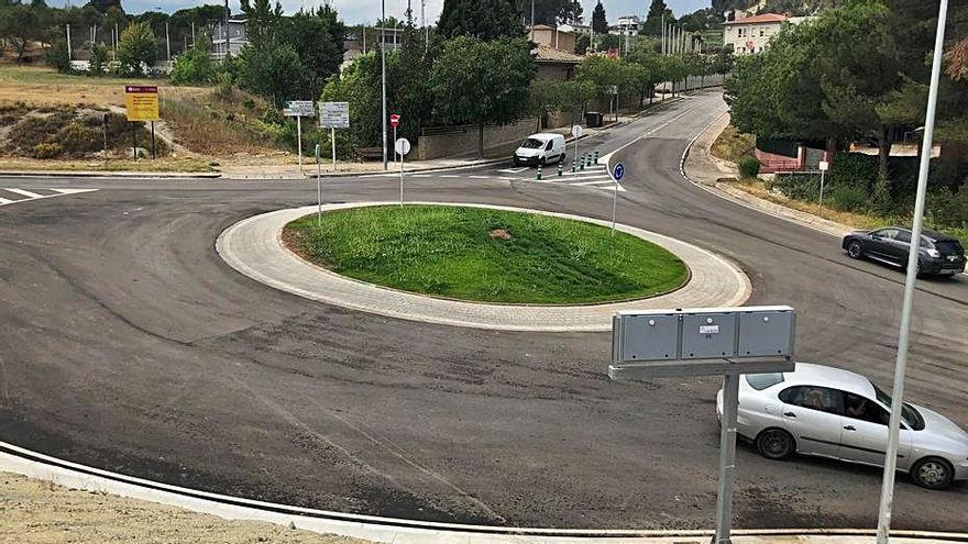 Castellgalí ordena els  accessos a la zona industrial